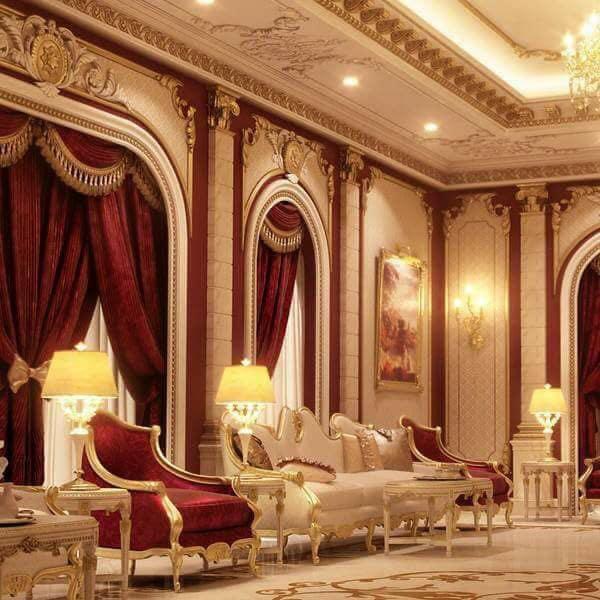 تأثيث قاعة الضيافة الملكية